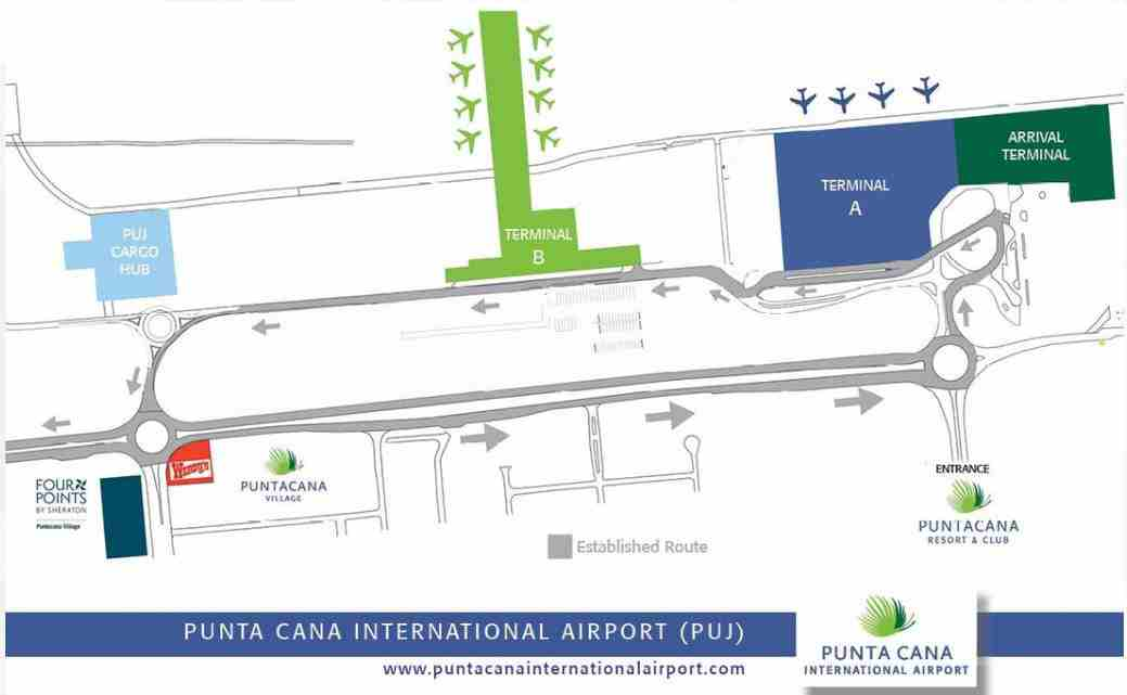 Punta Cana Airport Terminal Map Punta Cana airport, New terminal, arrivals, departures, taxis
