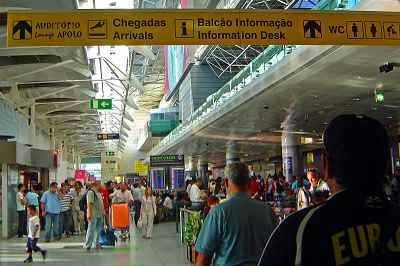 Lisbon airport, arrivals hall
